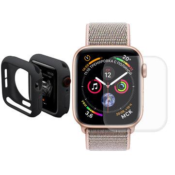 Vỏ đồng hồ Enkay TPU + Bảo vệ màn hình uốn cong 3D uốn cong cho Đồng hồ táo Series 4 40mm