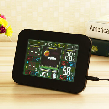 Digital Wireless Weather Forecast Station Temperature Humidity Thermometer Alarm Clock Monitor