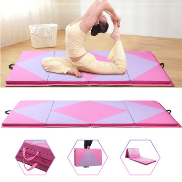 48x96x2inch Large Folding Gymnastics Mat Airtrack Yoga Exercise Gym Panel Tumbling Climbing Pad