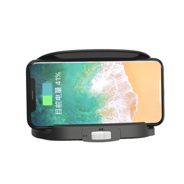 10W Smart Wireless Car Charger Stable Mobile Phone Holder Infrared Touch Sensor Fast Charging with Automatic Temperature Detection