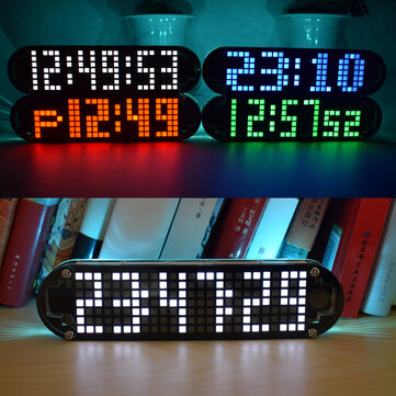 $12.50 Geekcreit DS3231 High Accuracy Multifunction LED Dot Matrix Animation Effects Clock DIY Kit