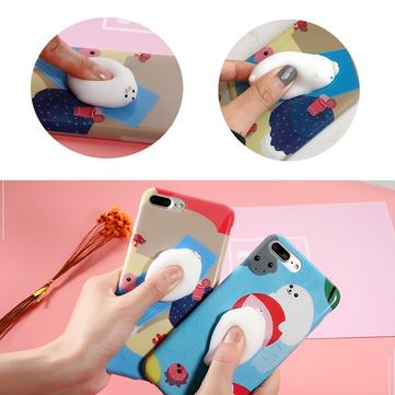 Bakeey ™ Cartoon 3D Squishy Squeeze Langsom Rising Polar Bear Seal Soft TPU Veske til iPhone 7/8 / 7Plus