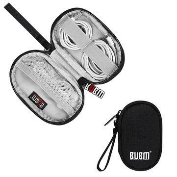 BUBM Large Capacity Portable Storage Pouch Earphone Cable Accessory Organized Managment Storage Bag