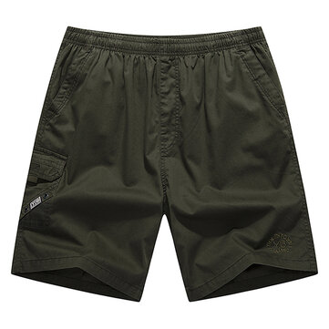 Summer Loose Cotton Middle-aged Men's Pants Plus Size Casual Beach Shorts