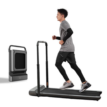 WalkingPad R1Proトレッドミル手動/自動モード折りたたみ式ウォーキングパッド滑り止めスマートLCDディスプレイ10Km / HEUプラグ付きランニングフィットネス機器