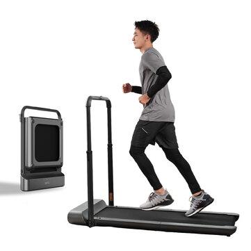 WalkingPad R1 प्रो ट्रेडमिल मैनुअल / स्वचालित मोड तह चलना पैड गैर पर्ची स्मार्ट एलसीडी डिस्प्ले 10Km / H चल रहे फिटनेस उपकरण यूरोपीय संघ प्लग के साथ