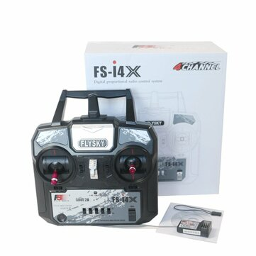 Flysky FS-i4X 2.4G 4CH AFHDS RC Transmitter Remote Control With FS-A6 Receiver