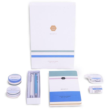 Deli 68889B Blue Stationery Gift Suit For Student In School