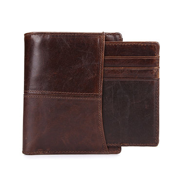 Men Genuine Leather Wallet Vintage Wallets Coin Purse Card Holder