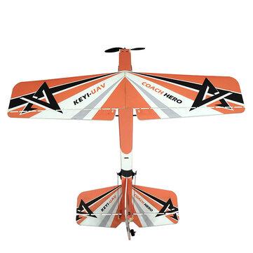 KEYI-UAV Hero 2.4G 4CH 1000mm PP Trainer RC Самолет PNP