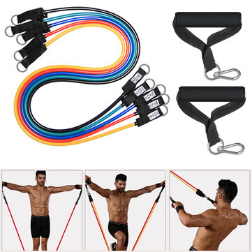 25-150LBS Fitness Rally Pulling Rope Elastic Resistance Band For Home Workout Training Equipment