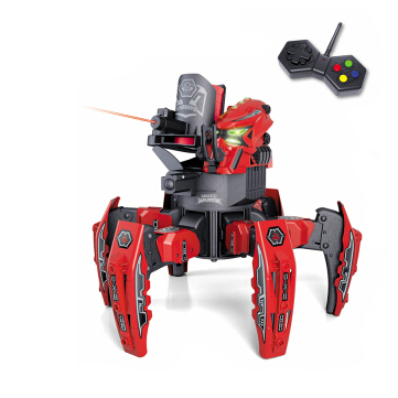 MoFun 2.4G Space Warrior Radio-Controlled Spider Robot 6-Leged Robot with Discs and Laser Sight