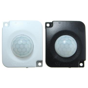 एलईडी लाइट्स + 2 पीसीएस पुरुष कनेक्टर के लिए डिटेक्टर इन्फ्रारेड पीआईआर मोशन सेंसर स्विच