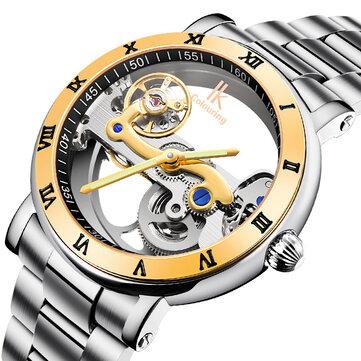 IK FÄRGNING 98399 Business Style Men Armbandsur Rostfritt Stål Band Automatiska Mekaniska Klockor
