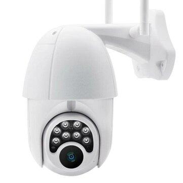 Wifi HD 1080P IP Camera 8 LEDS Infrared 6x Zoom Outdoor Camera Full-Color Night Vision Surveillance Camera Waterproof PTZ Rotation