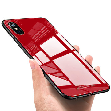Bakeey™ Tempered Glass Mirror Back TPU Frame Protective Case for iPhone X/7/8 7Plus/8Plus