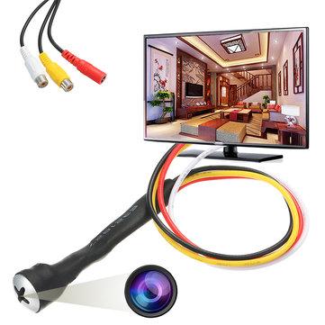 Mini Hidden Camera HD 800TVL Color CCTV Screw Pinhole 3.7mm Lens Video Audio DIY