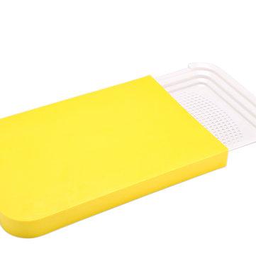 Bàn cắt bếp 2 trong 1 Bàn cắt chống trượt Đa năng Bàn cắt nhựa đa năng Hộp đựng thức ăn sáng tạo Hộp đựng đồ ăn có thể gập lại Chặt khối kháng khuẩn