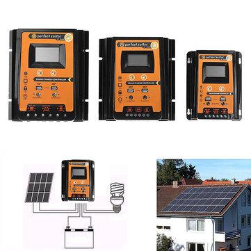 30A/50A/70A 12V/24V Intelligent USB PWM Solar Panel Battery Regulator Charge Controller
