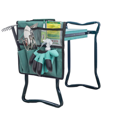 6 Pockets Multifunctional Garden Kneeler Tool Bags for Garden Flat Cart Gloves Shovel Water Can Storage Organization Bag for sale in Litecoin with Fast and Free Shipping on Gipsybee.com