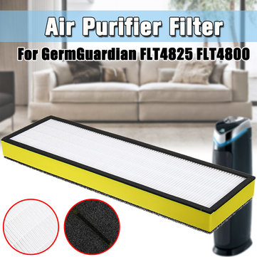 Air Purifier Filter HEPA Replacement Filter For GermGuardian FLT4825 FLT4800