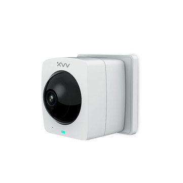 [ Plug-in Version ] Xiaovv A1 Smart Panoramic IP Camera HD 1080P 360° AI Humanoid Detection Security Camera Split Screen Infrared Night Vision