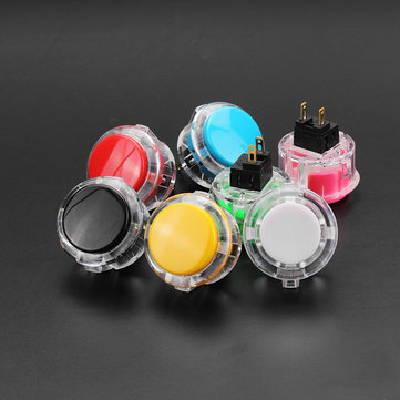 Transparent 30MM Card Button Crystal Small Circular Arcade Game Push Button Switch