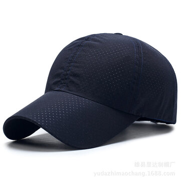 Men Summer Outdoor Breathable Quick-drying Baseball Cap Adjustable Casual Sunshade Hat