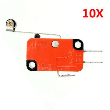 Interruptor Micro Wendao V-156-1C25  Interruptores de Límite de Carrera de Palanca de Rodillo de Bisagra Larga 10uds