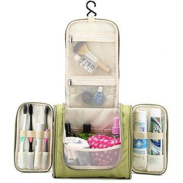 Organizador de Maquillaje con Cremallera Bolsas de Almacenamiento de Lavado de Viaje