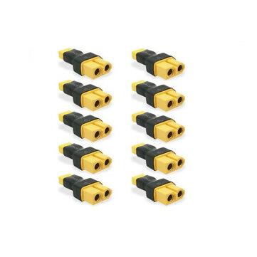 आरसी ड्रोन एफपीवी रेसिंग के लिए 10 पीसीएस एक्सटी 30 पुरुष एक्सटी 60 महिला एडाप्टर बैटरी कनेक्टर