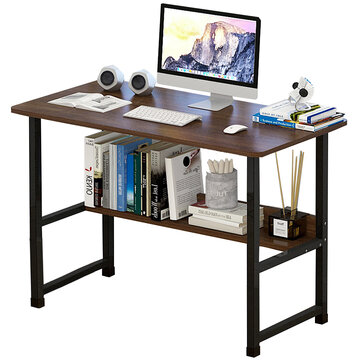 Standing Computer Desk Simple and Modern Writing Desk Dormitory Desk with Storage Board for Student Small Size