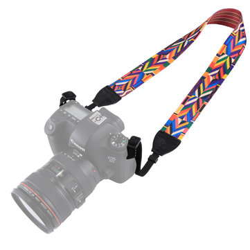 PULUZ PU6008C Kiểu dây đeo cổ nhiều màu theo phong cách dân tộc Retro cho máy ảnh DSLR DSLR