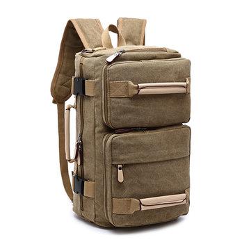 キャンバスバックパック 大容量多機能 レジャートラベルクラッチバッグ クロスビーバッグ 男性用