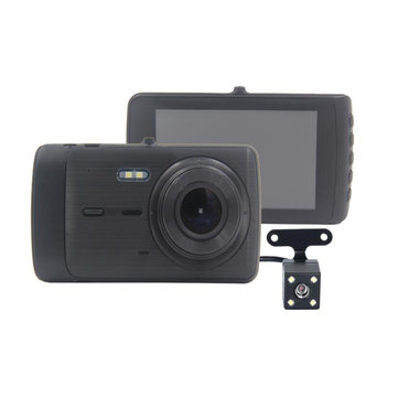 X402 HD 1080P Wide-angle 4 Inch IPS Screen Front And Rear Double Lens Reversing Image Car DVR