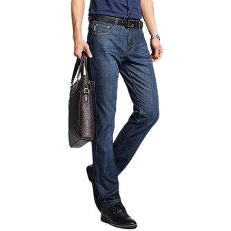 पुरुषों के लिए आरामदायक व्यापार सीधे पैर वसंत ग्रीष्मकालीन कपास सांस लेने योग्य बुनियादी लंबे ज