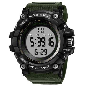 SANDA 359 Digital Watch Military Multifunction Stoptwatch Waterproof Student Men Watch