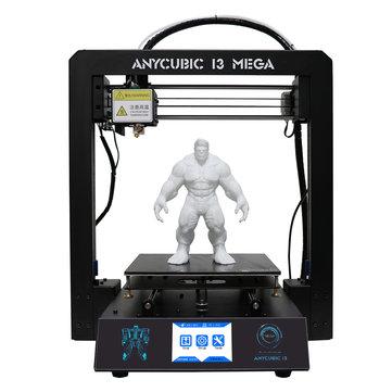 Anycubic® I3 Mega DIY 3D Yazıcı Desteği Filamentli Güç Özeti Sensör 210x210x205mm Baskı Ebadı 1.75mm 0.4mm Nozul