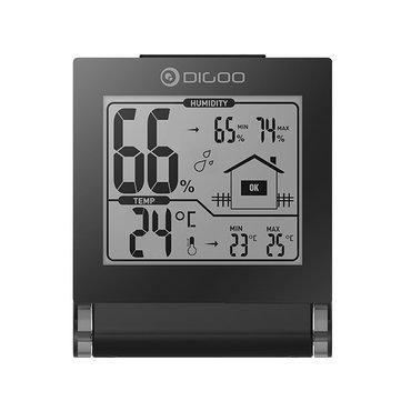 Digoo DG-TH1117 Confort en el hogar Plegable Mini Higrómetro Interior Plegable Digital Temperatura Monitor