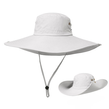Men Summer Outdoor Casual Quick-drying Camouflage Fishing Hat Wide Brim Sunshade Hat