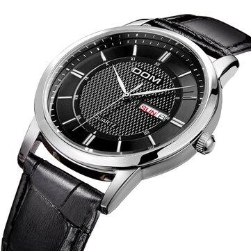DOM M  -  11ビジネススタイルメンズ腕時計カレンダーレザーストラップ時計クォーツ時計
