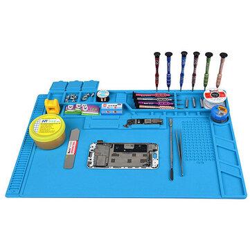 S-170 480x318mm Silicone Pad Desk Work Mat Heat Insulation Maintenance Platform for BGA PCB Soldering Repair Tool