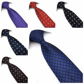 पेन्सी मेन्स टाई जैक्वार्ड बुना रेशम बिग वेव प्वाइंट नेक्टी-विभिन्न रंग