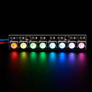 Straight Board 8x 5050 RGBW Cool White LED 6000K With Integrated Drivers Module