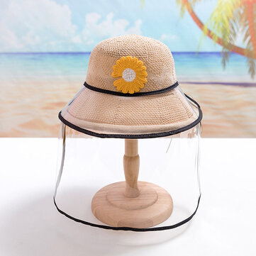 How can I buy Chrysanthemum Straw Hat Childrens Sun Hat Removable Face Screen with Bitcoin