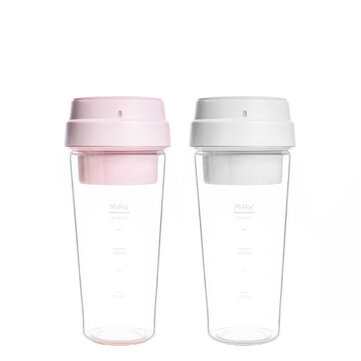 17PIN 400ML Star Fruit Juicer Bottle Portable DIY Juicing Extracter Cup Magnetic Charging from xiaomi youpin