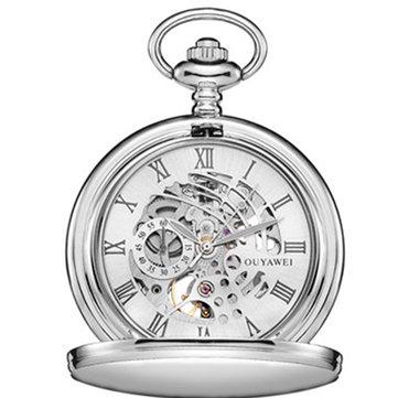 OUYAWEI P01 Teknik Pocket Watchl Vintage Tangan Watch Retro Pendant Pocket Watch