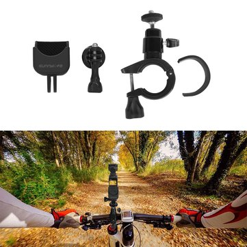 Sunnylife Bike Bicycle Clamp Standard & 1/4 180 Degree Multiple Adapter Mount Accessories For GoPrO DJI OSMO Pocket Gimbal