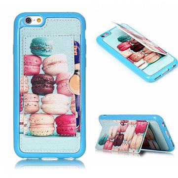 Hamburger Pattern Back Holder Veske til iPhone 6 Plus & 6s Plus