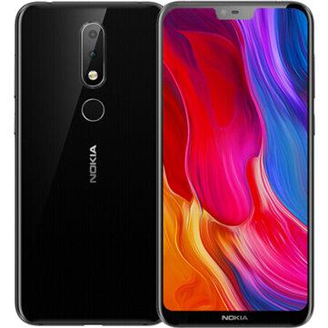 NOKIA X6 Dual Cámara frontal Desbloqueo 5.8 pulgada 6GB 64GB Snapdragon 636 Octa Core Smartphones con teléfono inteligente 4G de Teléfonos móviles y accesorios en banggood.com